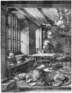 St Jerome in his study by A Durer